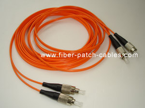 FC to FC multimode duplex fiber optic patch cables