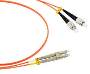 LC to FC multimode duplex fiber optic patch cable
