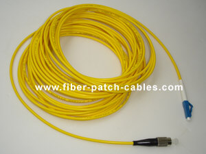 FC to LC single mode simplex fiber optic patch cable