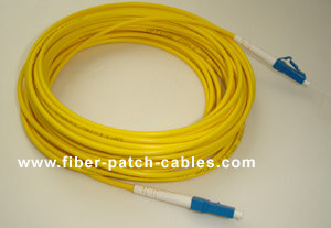 LC to LC single mode simplex fiber optic patch cable