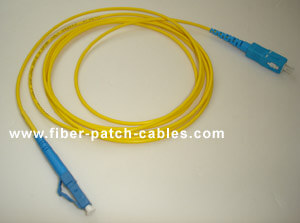 SC to LC single mode simplex fiber optic patch cable